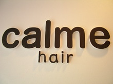 calme hair  | カルム ヘアー  のロゴ