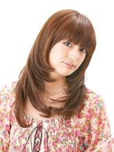 シャギーレイヤーアンドカール|美容室 Lucky Hair 中山店のヘアスタイル