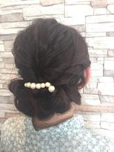 結婚式およばれアップ♪|NEXT hair 前橋店のヘアスタイル