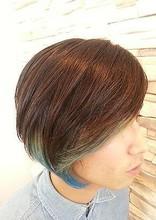 2ブロマッシュカラー|NEXT hair 前橋店のメンズヘアスタイル
