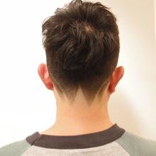 逆さ富士かりあげ |NIDOL for hairのメンズヘアスタイル