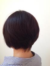丸みのあるやわらかグラボブ|美容室 寛技のヘアスタイル