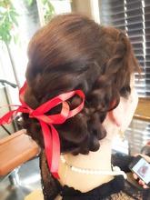 編み込みmix Ricca hairのヘアスタイル