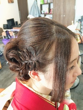 編み込みリボン☆成人式スタイル Ricca hairのヘアスタイル