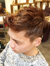 ワイルド☆2ブロックショート Ricca hairのメンズヘアスタイル