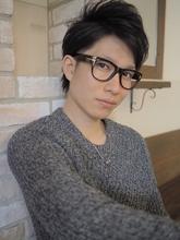 アップバングで大人度アップなスタイリッシュショート☆ hair lounge ohanaのメンズヘアスタイル