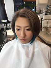 スモーキーボブ|hair make Peaceのヘアスタイル
