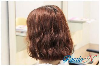 ゆるふわミディアム 美容室 PassioN 志村三丁目店のヘアスタイル