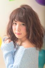 おフェロ可愛い☆やわふわウェーブロブ|Hair Frais Make orkのヘアスタイル