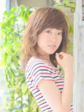 【カット×リムルカラー×デジタルパーマ】女性らしい柔らかい質感のナチュラルスタイル|ЯeML for hairのヘアスタイル