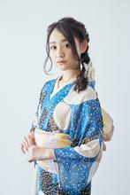 三つ編みを組み合わせてつくるダウンスタイルの浴衣ヘア atelier SUNNY DAYのヘアスタイル