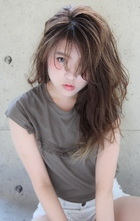 『大人かわいい×透明感』グレージュウェーブ HAIR&MAKE SeeK 吉祥寺のヘアスタイル