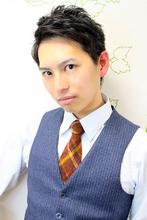 ☆ナチュラルショート アレンジ アップバングversion☆|hair salon Reginaのメンズヘアスタイル