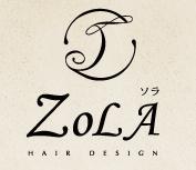 ZOLA hair  | ソラ  のロゴ