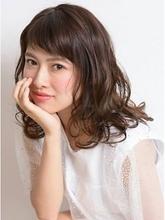 ゆるふわミディアムヘアー|PRIMO 本川越店  のヘアスタイル