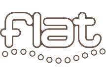 flat  | フラット  のロゴ