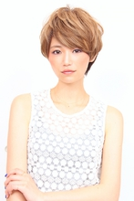 大人可愛いひし形ショート HAIR DESIGN ATELIER MIUのヘアスタイル