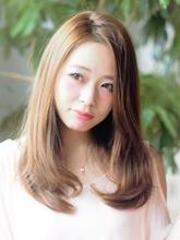 サマーベージュ Calm Hair 阪急淡路店のヘアスタイル