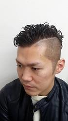 パーマ カラー バリアート|go. HAIRのメンズヘアスタイル