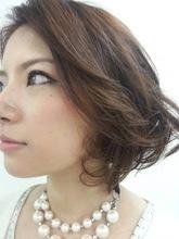 2セクション パーマ 美容室 シェイプのヘアスタイル