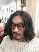 ハリウッド俳優系☆ワイルド系大人のパーマ★|トシちゃんの美容室のメンズヘアスタイル