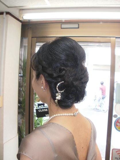 最新のヘアスタイル 結婚式髪型50代  結婚式にご参列 |