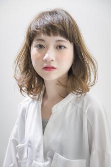 ふんわりオシャレ くびれミディ|ACQUA aoyamaのヘアスタイル