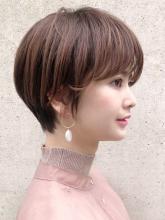 前髪パーマ すっきりショート ACQUA aoyamaのヘアスタイル