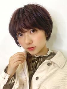 キュートな女の子ショートヘア♪ピンクブラウンで垢抜けた印象に|ACQUA aoyamaのヘアスタイル