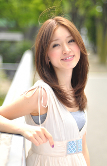 動き!フィット感!小顔!北川景子風ロングヘア!『伸』|ACQUA aoyamaのヘアスタイル