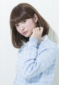 【春のイチオシ☆】大人可愛い厚めバング耳かけボブスタイル♪