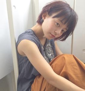 髪型【丸顔さん向け】ナチュラルショートボブ|ACQUA omotesandoのヘアスタイル