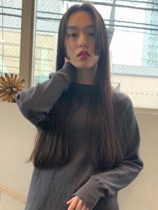 黒髪 ロング ワンレン ACQUA omotesandoのヘアスタイル