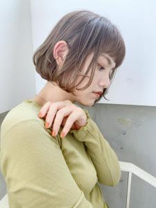 透明感◎ベージュ×ボブが可愛い♪|ACQUA omotesandoのヘアスタイル