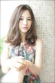 センターパート☆ミステリアスミディー|AFLOAT NAGOYAのヘアスタイル