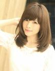 2014春ヘアスタイル 小顔ミディアム髪型
