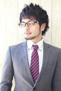 『AFLOAT RUVUA 田中』メガネに似合うメンズビジネスヘア