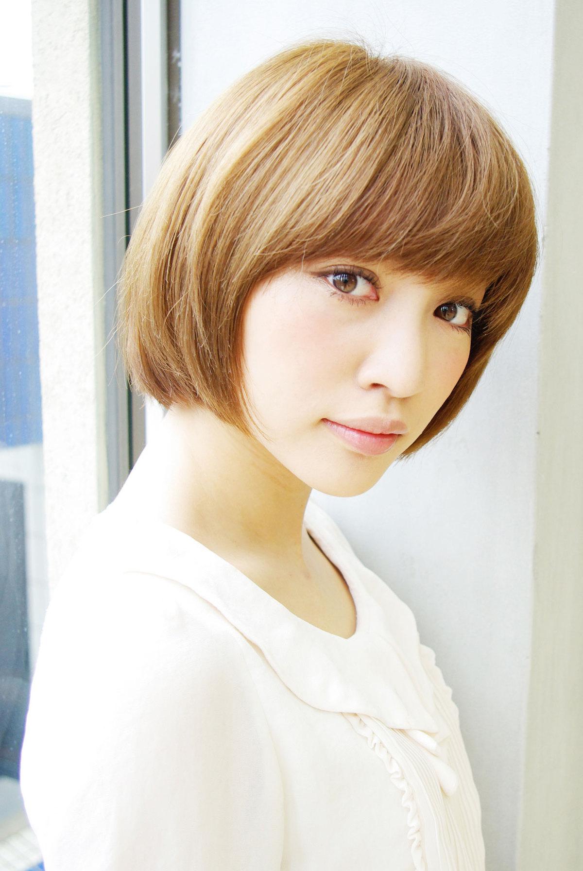 篠田麻里子さん風☆小顔になるショートボブ