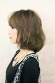 アッシュカラー ミディアム髪型