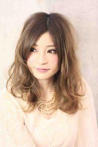 海外セレブロング髪型・グラデーションカラー