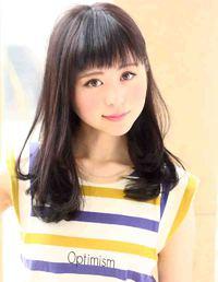 2013春夏 黒髪ロングゆるふわパーマ髪型