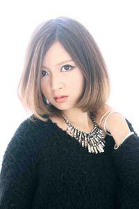 013春夏 ヘアカタログ グラデーションカラー ボブミディアム髪型