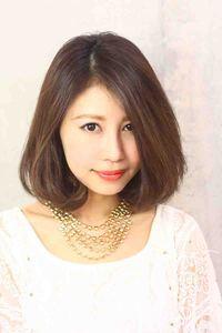 2013夏 黒髪 ミディアムボブ髪型