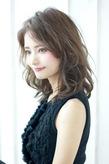 2015秋冬ウェーブセミディー 暗髪アッシュA313