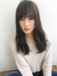 ラフほつれウェーブ暗髪セミロング【y−61】