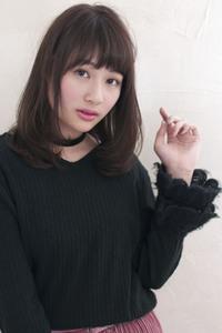 小顔になれるピュアストレート 前髪パーマ【y−89】