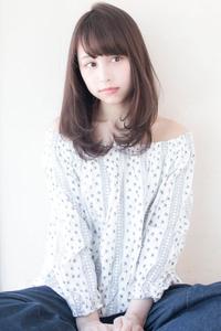 ひし形ワンカール【ラベンダーグレージュ】U-5