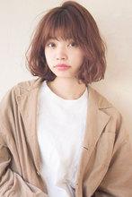 くせ毛風アンニュイパーマ ツヤ髪ピンクカラー|ALICe by afloatのヘアスタイル