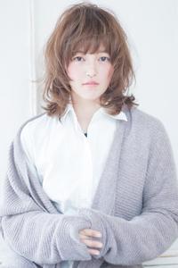 川口春奈風フェミニンレイヤーデジタルパーマカールスタイル AKI-235