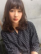 小顔ミディデジタルパーマ【y−255】|ALICe by afloatのヘアスタイル